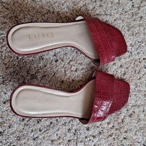 Ralph Lauren red slides